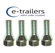 M12 TRAILER WHEEL BOLTS 1.5 CONICAL REPLACES F1830ZPK IFOR WILLIAMS 19mm HEAD x4